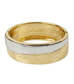 Robert Lee Morris Soho™ Two Tone Hinged Bangle Bracelet