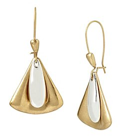 Robert Lee Morris Soho® Two Tone Layered Geometric Drop Earrings