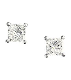 Effy® 0.74 Ct. T.W. Diamond Earrings In 14K White Gold