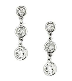 Effy® 0.35 Ct. T.W. Diamond Earrings In 14k White Gold