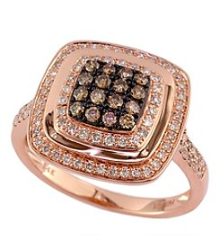 Effy® Espresso Collection 0.55 Ct. T.W. Diamond Ring In 14K Rose Gold