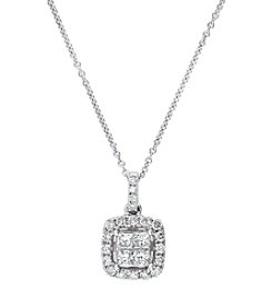 Effy® Classique Collection 0.49 Ct. T.W. Diamond Pendant In 14K White Gold