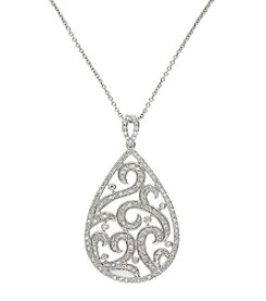 Effy® 0.68 Ct. T.W. Diamond Pendant In 14K White Gold