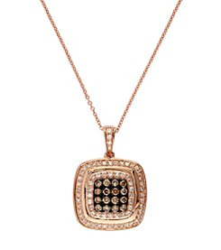 Effy® Espresso Collection 0.49 Ct. T.W. Diamond Pendant In 14K Rose Gold