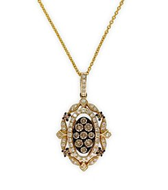 Effy® Espresso Collection 0.56 Ct. T.W. Diamond Pendant In 14k Yellow Gold