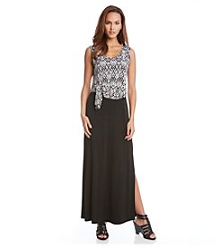 Karen Kane® Tie Top Maxi Dress