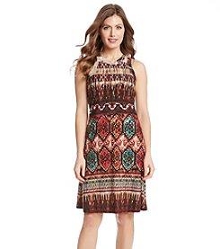 Karen Kane® Border Print Halter Dress