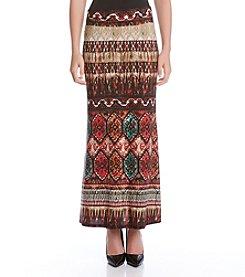 Karen Kane® Border Print Maxi Skirt