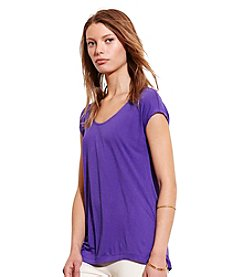Lauren Active® Scoop Neck Jersey Tee