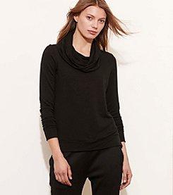 Lauren Active® Cowlneck Jersey Pullover