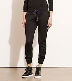 Lauren Active® Mesh-Panel French Terry Joggers