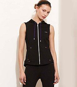 Lauren Active® Hooded French Terry Vest