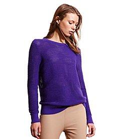 Lauren Active® Open-Knit Sweater