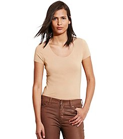 Lauren Jeans Co.® Stretch Cotton Scoop Neck Tee