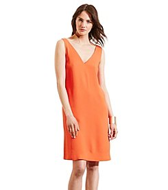 Lauren Jeans Co.® Crepe Sleeveless Shift Dress