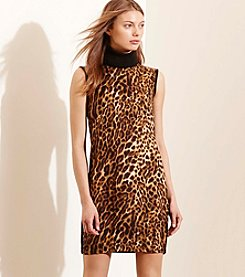 Lauren Jeans Co.® Ocelot-Front Turtleneck Dress