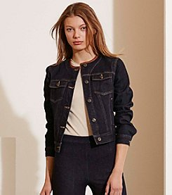 Lauren Jeans Co.® Leather-Trim Denim Jacket