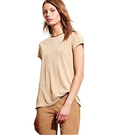 Lauren Jeans Co.® Faux Leather Trim Jersey Tee