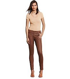 Lauren Jeans Co.® Premier Coated Skinny Jeans