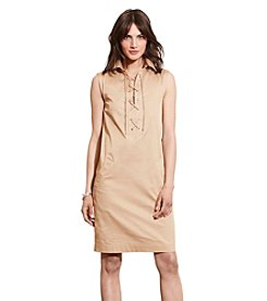 Lauren Jeans Co.® Lace-Up Shift Dress