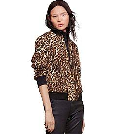 Lauren Jeans Co.® Ocelot-Print Bomber Jacket