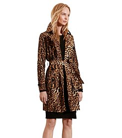 Lauren Jeans Co.® Ocelot-Print Trench Coat