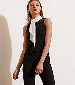 Lauren Jeans Co.® Contrast-Neckline Jersey Top