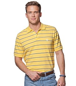 Chaps® Men's Big & Tall Short Sleeve Striped Polo Shirt