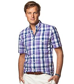 Chaps® Men's Big & Tall Short Sleeve Plaid Button Down Shirt