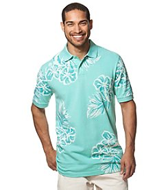 Chaps® Men's Big & Tall Short Sleeve Floral Print Polo Shirt