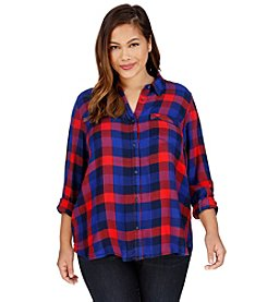 Lucky Brand® Plus Size Bungalow Plaid Top