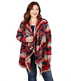 Lucky Brand® Plus Size Pattern Cardigan