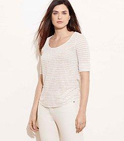 Lauren Ralph Lauren® Plus Size Striped Linen Tee
