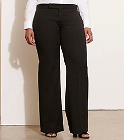 Lauren Ralph Lauren® Plus Size Stretch Twill Flared Pants