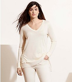 Lauren Ralph Lauren® Plus Size Layered Silk-Blend Sweater