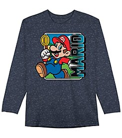 Super Mario Bros. Boys' 4-7 Long Sleeve Super Mario Tee