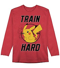Pokemon® Boys' 4-7 Long Sleeve Train Hard Tee