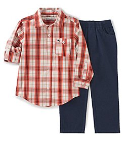 Kids Headquarters® Boys' 2T-7 2-Piece Plaid Shirt and Pants Set
