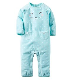 Carter's® Baby Girls' Bear Fleece Jumpsuit