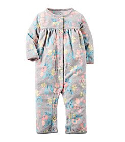 Carter's® Baby Girls' Floral Fleece Jumpsuit