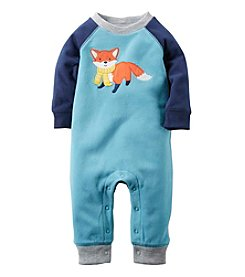 Carter's® Baby Boys Fox Fleece Jumpsuit