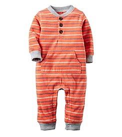 Carter's® Baby Boys Striped Fleece Jumpsuit