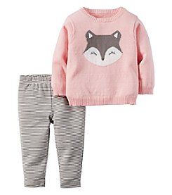 Carter's® Baby Girls' 2-Piece Fox Sweater And Leggings Set