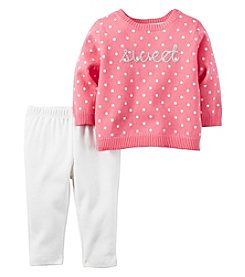 Carter's® Baby Girls' 2-Piece Sweet Sweater And Leggings Set