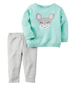 Carter's® Baby Girls' 2-Piece Mouse Sweater And Leggings Set