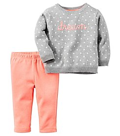 Carter's® Baby Girls' 2-Piece Dream Sweater And Leggings Set