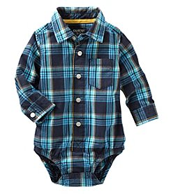 OshKosh B'Gosh® Baby Boys Plaid Bodysuit