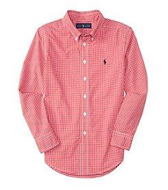 Polo Ralph Lauren® Boys' 8-20 Long Sleeve Checked Button Down Shirt