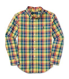 Polo Ralph Lauren® Boys' 8-20 Long Sleeve Plaid Button Down Shirt