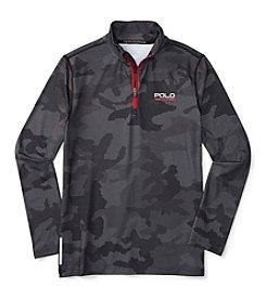 Polo Sport® Boys' 8-20 1/4 Zip Camo Pullover